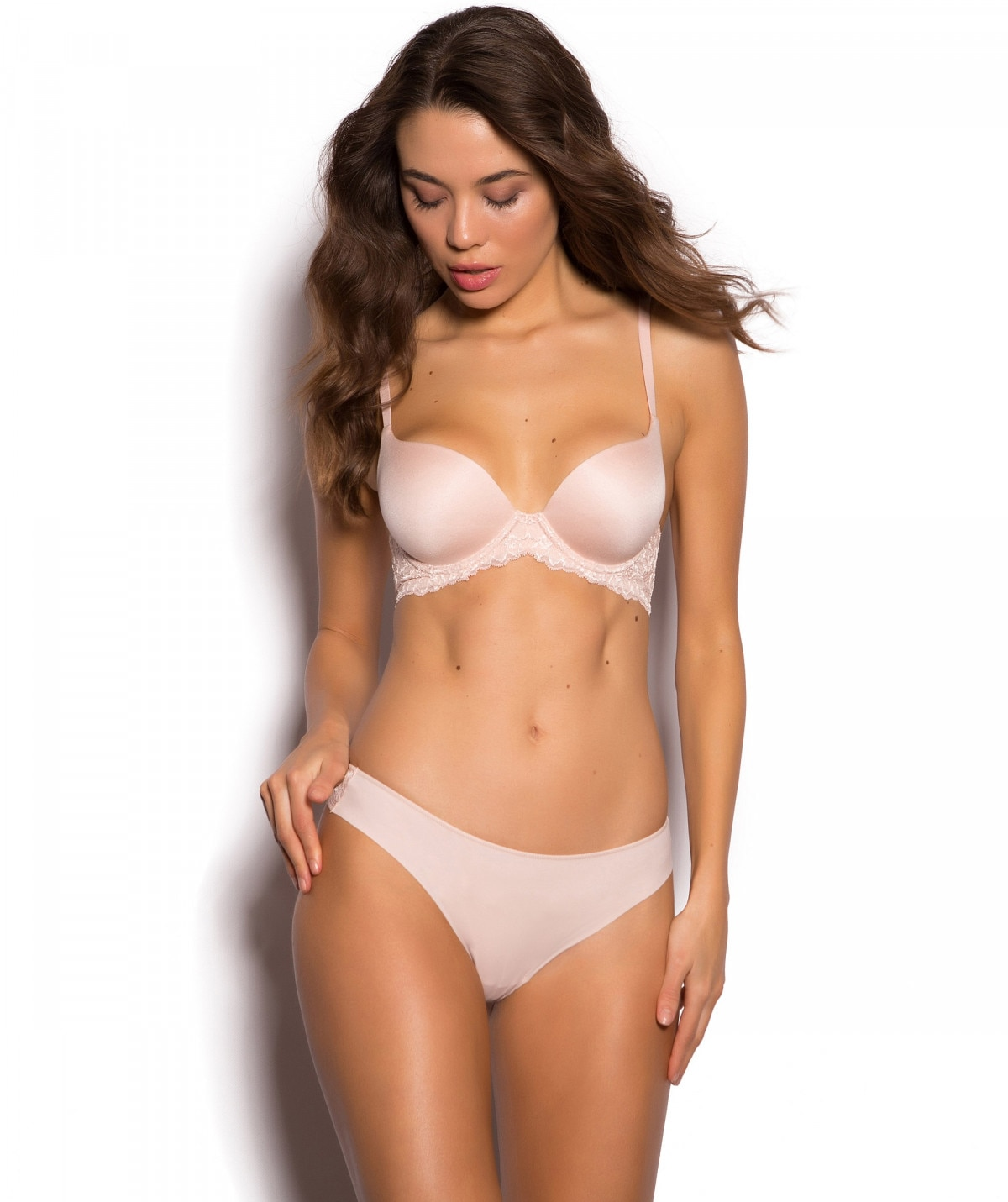 9fa3cfba6b874 Body Bliss Lace Contour Bra - Blush Pink.  54.99.  54.99