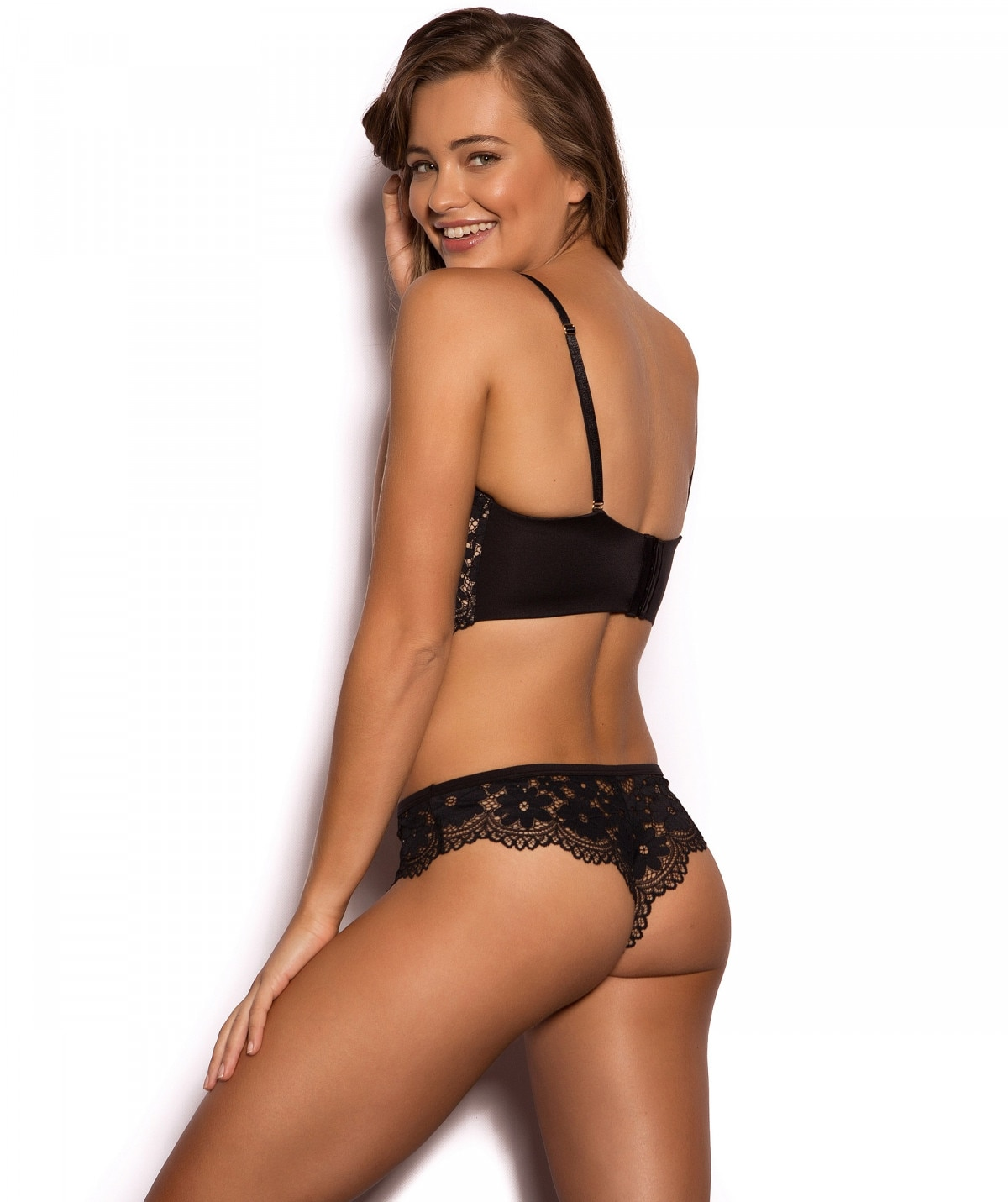 Brodie Blush Lingerie Set - Black 6e591dbb8