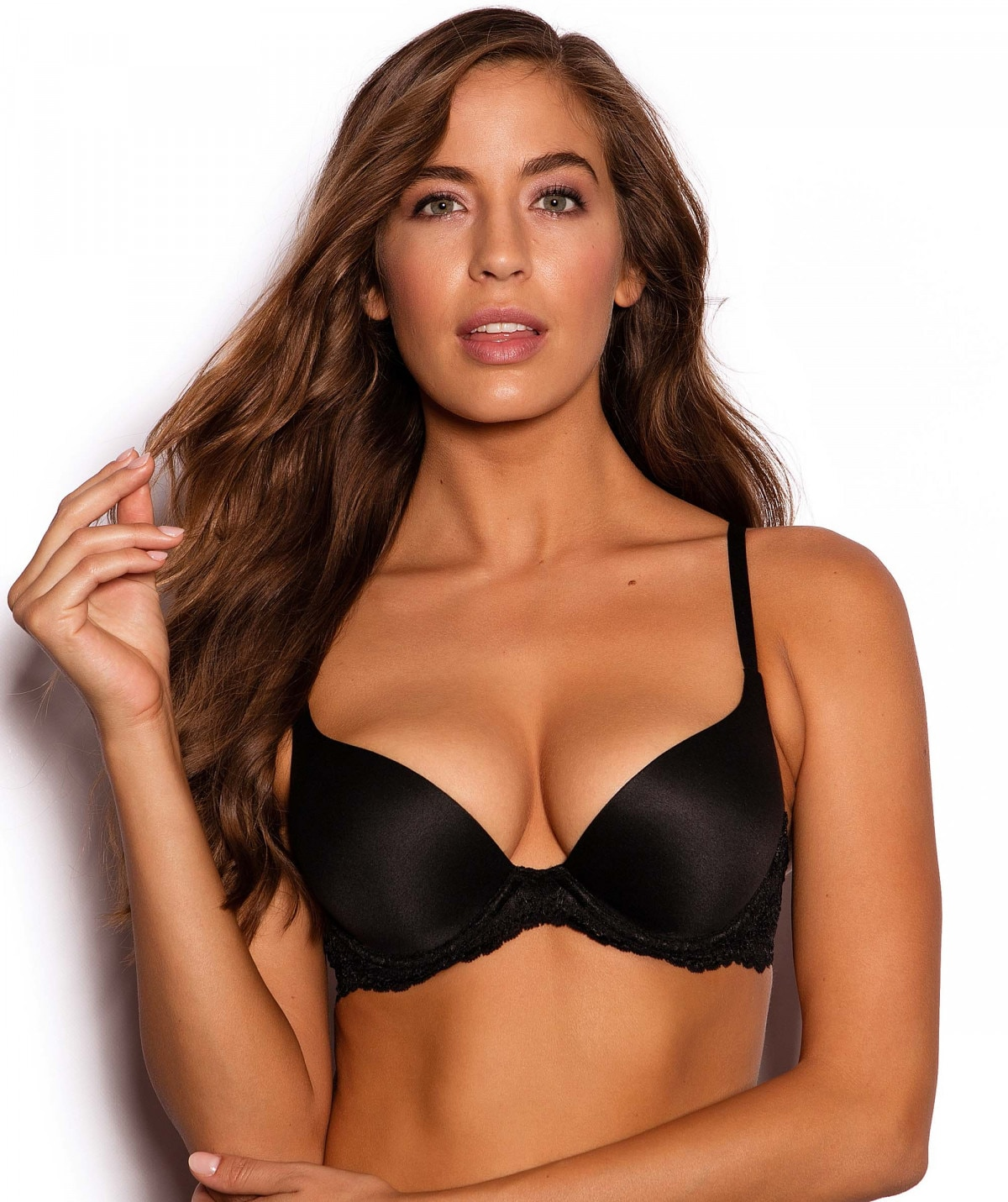 8a9994feb2c6e Body Bliss Lace Double Push Up Bra - Black.  54.99.  54.99