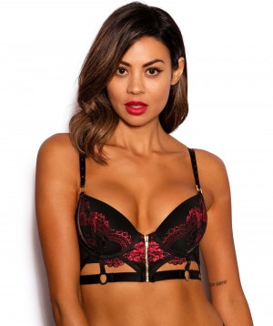 4d290e289 Vamp Desire Push Up Bra - Black Red ...