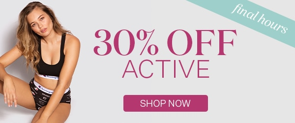 30% OFF All Active Styles